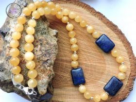 Aragonite & Lapis Lazuli Necklace
